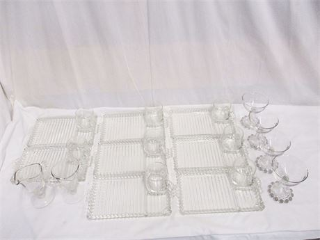 LOT OF VINTAGE GLASS FEATURING IMPERIAL GLASS CANDLEWICK