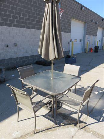 Aluminum Patio Dining Table Set