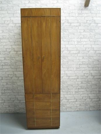 HICKORY MANUFACTURING MID CENTURY NARROW ARMOIRE
