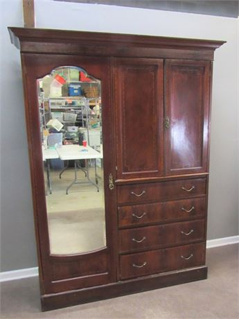 Beautiful Antique Large Bedroom Clothing Armoire