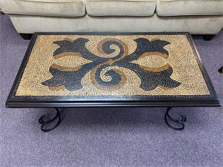 Inlaid Mosaic Tile Coffee Table
