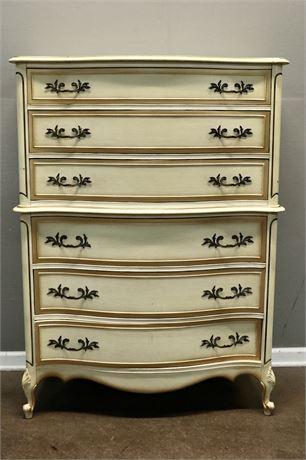 French Provincial High Boy Dresser