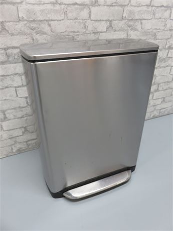 SIMPLEHUMAN Stainless Steel Foot Pedal Trash Can