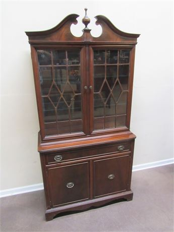 SMALL CHIPPENDALE STYLE HUTCH