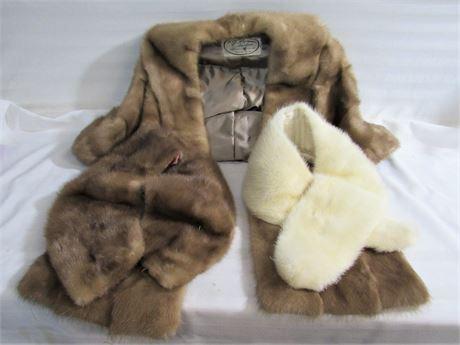 3 Vintage Furs, including Mink Stole/Cape
