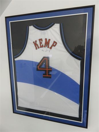 Framed 1998-99 Cleveland Cavaliers Shawn Kemp Pro Jersey (Signed)
