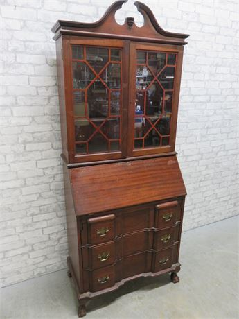 Vintage Chippendale Secretary Desk