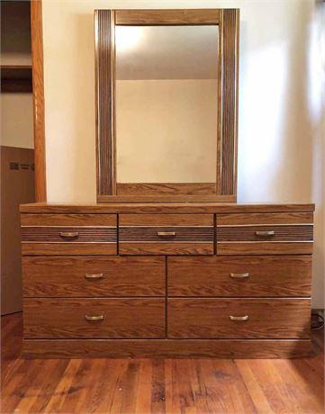 Mid Century Mirrored Dresser