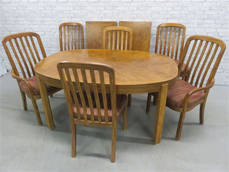 9-Piece Mission Style Dining Table Set