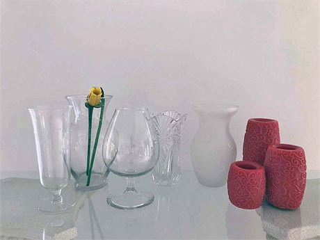 Vase and Battery Operated Candle Lot