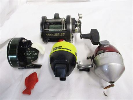 LOT OF FISHING REELS FEATURING JOHNSON CITATION