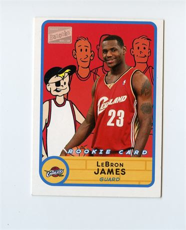 LEBRON JAMES ROOKIE CARD 2003-04 TOPPS BAZOOKA MINI
