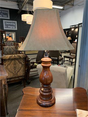 Wood Turned Base Table Lamp