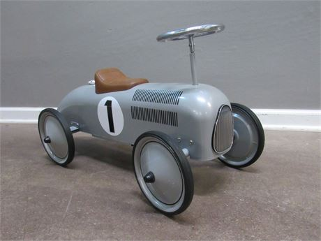Schylling Speedster Ride-On Silver Toy Race Car