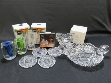 10-Piece Crystal Lot