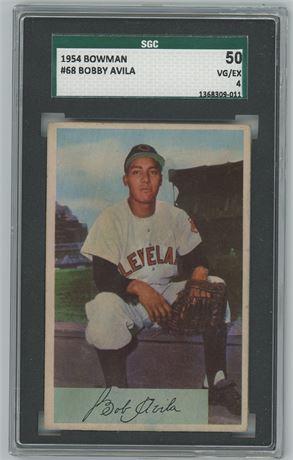 Bobby Avila Cleveland Indians 1954 Bowman SGC 4