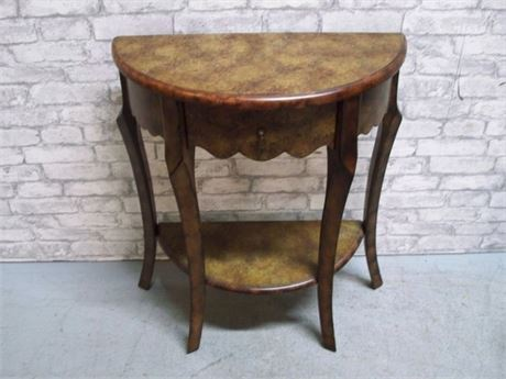 NICE DEMILUNE TABLE WITH DRAWER