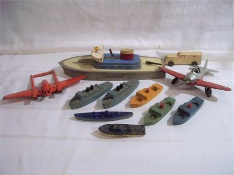 11 PIECE VINTAGE TOY LOT