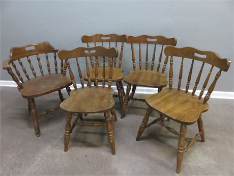 Colonial Maple Dining Chairs