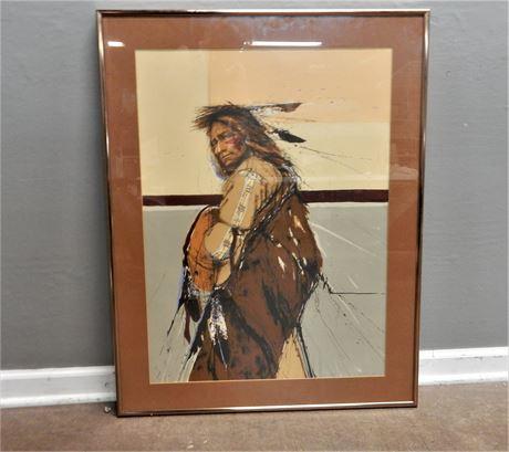 Native American Print Metallic Bronze Frame