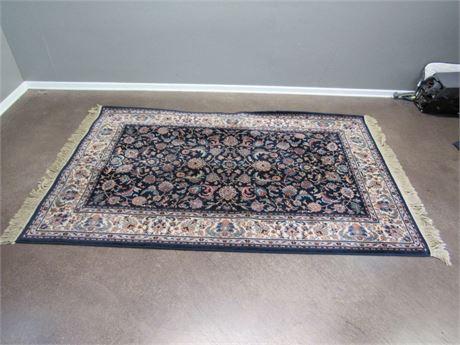 Karastan Indigo Tabriz Oriental/Asian Rug - 100% Wool