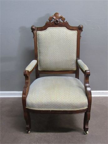 Antique Eastlake Chair on Casters