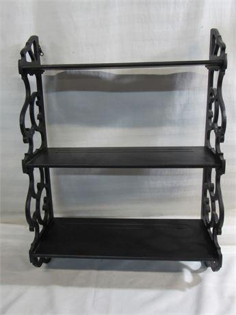 Black Wall Mount 3-Tier Shelf