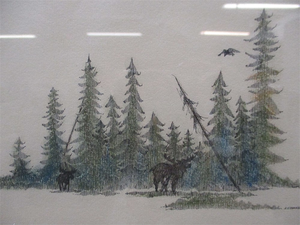 Transitional Design Online Auctions - PEN AND INK DRAWING ...