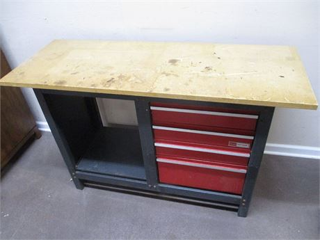 SEARS CRAFTSMAN 4-DRAWER WORKBENCH
