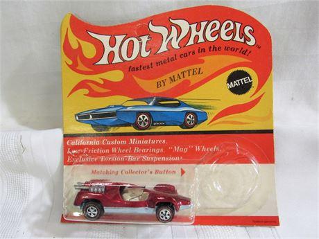 1969 Mattel Hot Wheels RedLine - Red Mantis - NIP