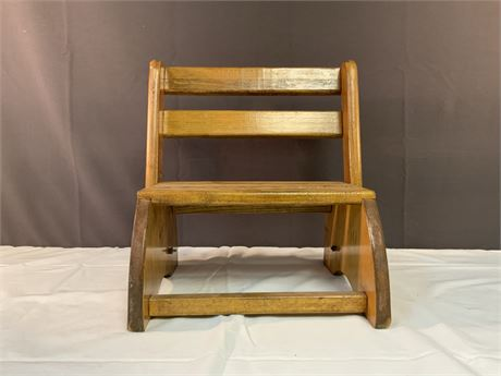 Small Wooden Doll Chair
