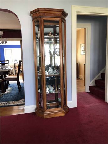 Beveled Glass Curio Cabinet