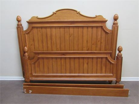 KING SIZE BEAD BOARD STYLE BED