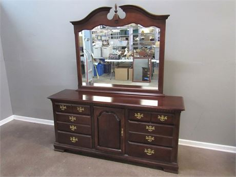 Chippendale Style Dresser with Mirror