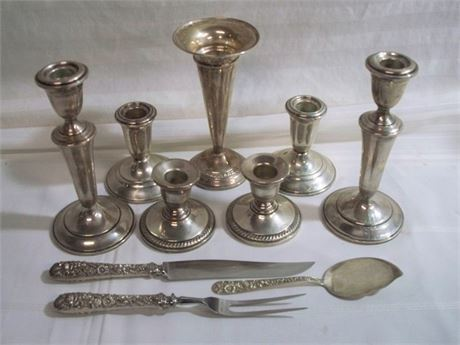 10 PIECE MISC. VINTAGE STERLING LOT