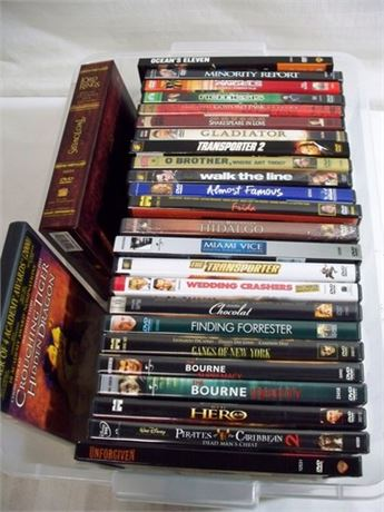 LARGE DVD LOT - 26 DVD'S