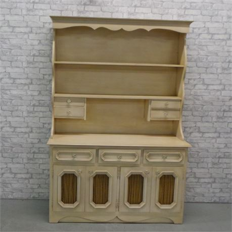 Attractive French Provincial Hutch
