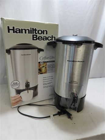 HAMILTON BEACH 42-Cup Electric Coffee Urn