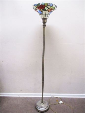 YET ANOTHER TIFFANY-STYLE FLOOR LAMP