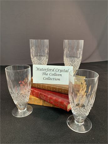 Colleen Pattern Waterford Ice Tea Glasses