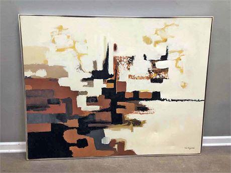 1970's Tom Hayward Original Canvas Painting