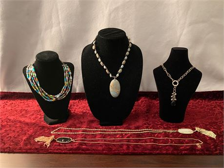 Lot of  5 Artisan Necklaces