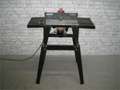 SEARS CRAFTSMAN ROUTER WITH ROUTER TABLE