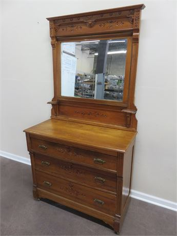 Antique Oak Empire Dresser