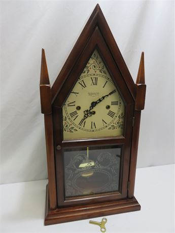 Vintage NEW ENGLAND CLOCK CO. Steeple Mantle Clock