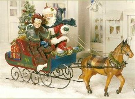 Possible Dreams Clothtique One Horse Open Sleigh