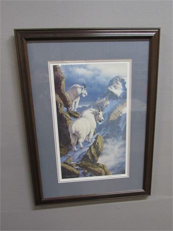 FRAMED DOUBLE MATTED SIGNED & NUMBERED (#144/750) SHEER INCLINE BY BRENT R. TODD