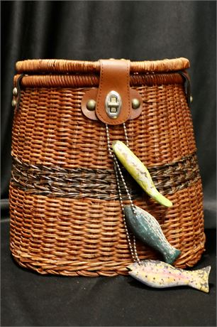 Rattan Wicker Fishing Creel Basket