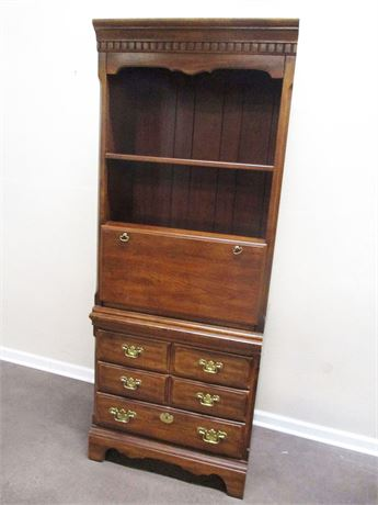 TALL SECRETARY WITH SHELVING