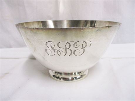 TIFFANY STERLING SILVER MONOGRAMMED BOWL